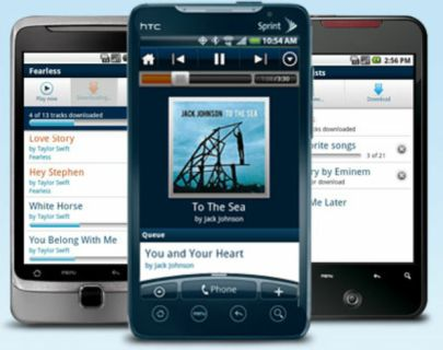 Rhapsody Music Player Android App